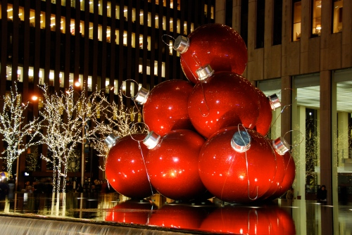 Ornaments near Rockefeller Center