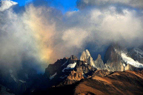 Rainbow over Mt. Fitzroy