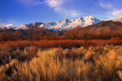 Eastern Sierras as seen in Bishop, CA